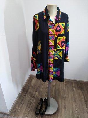 Vintage Blusa larga multicolor