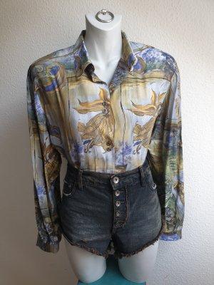90s Vintage Bluse mit Kunstmotiv / Kunstprint