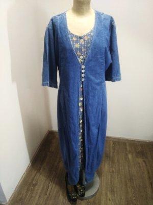 Vintage Denim Dress multicolored cotton