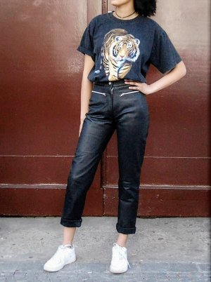 Clothes Leather Trousers black