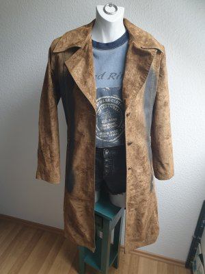 90s Vintage Mantel, Velourlederoptik