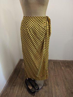 Vintage Spódnica midi czarny-żółty