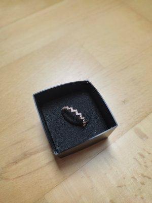 925er Silber Srebrny pierścionek srebrny-w kolorze różowego złota