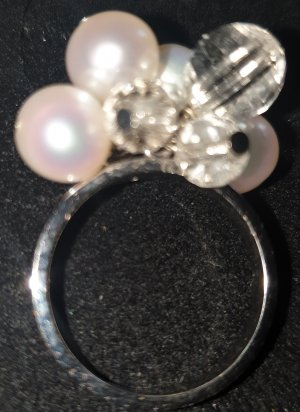 Silver Ring silver-colored-natural white