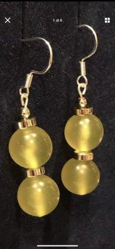 Orecchino d'argento argento-giallo-oro
