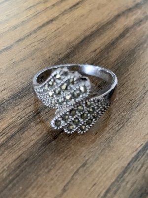 Anello d'argento argento-grigio Argento