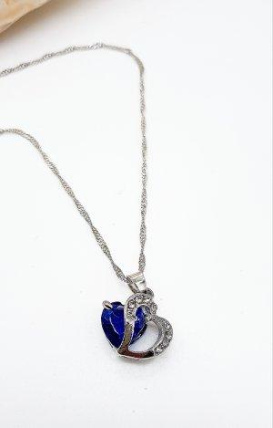 925 Silber gestempelt,  Halskette mit Herz Anhänger