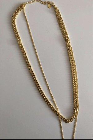 echt Silber 925 Zilveren ketting goud