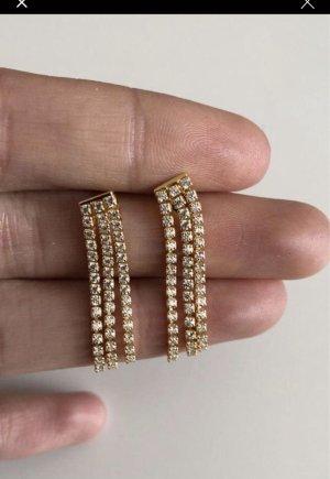 echt Silber 925 Zilveren oorbellen goud-zilver