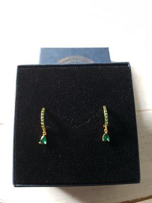 Boucles d'oreille en or multicolore