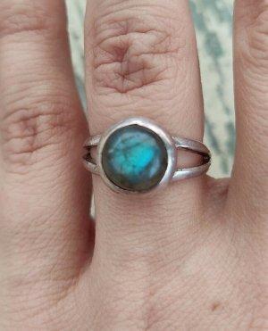 925 Silber Ring mit Labradorit Sterling Ethno Vintage Hippie boho