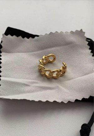 echt Silber 925 Zilveren ring goud