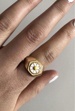 echt Silber 925 Zilveren ring goud-wit