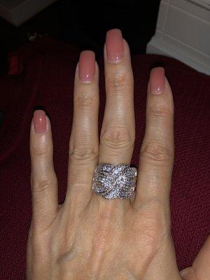 925 Silber Ring, NEU , Gr:54, Zirkonia