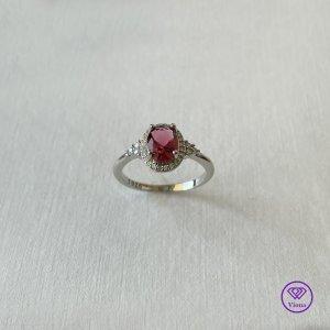 ♈️ 925 Silber Ring - Rubinfarbe - Gestempelt