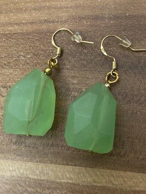 Pendientes colgante color oro-verde