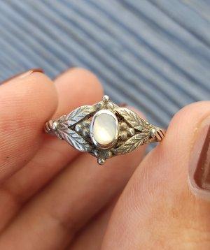 925 Silberring mit schöner Verzierung und Perlmutt Ring echtes Silber