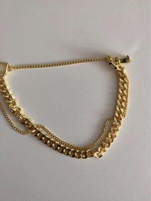 echt Silber 925 Silver Bracelet gold-colored