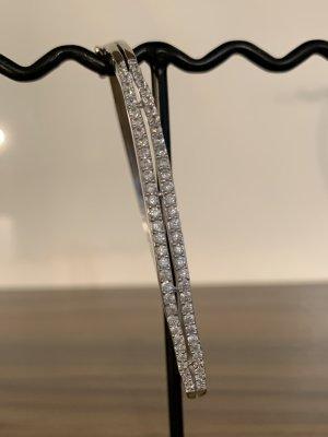 925 Sterling Silber Armreifen mit Verschluss
