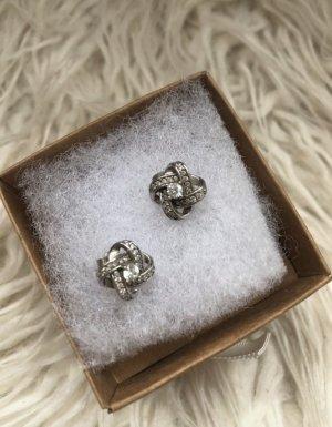 Juwelier Pendientes de plata color plata-blanco metal