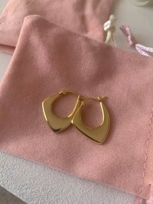 echt Silber 925 Silver Earrings gold-colored