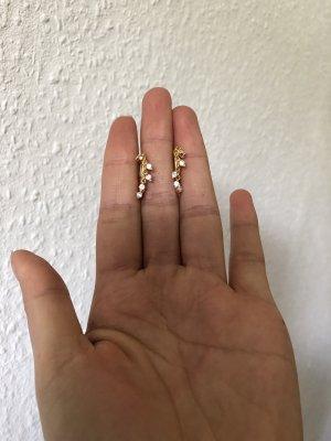 echt Silber 925 Gouden oorbellen goud