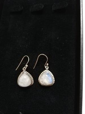 Zara Orecchino d'argento bianco-argento