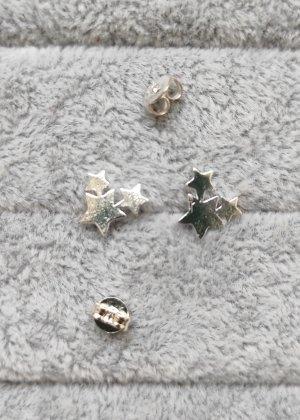 925 Sterling Silber Ohrstecker Stern Sterne Stars