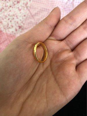 echt Silber 925 Srebrny pierścionek złoto