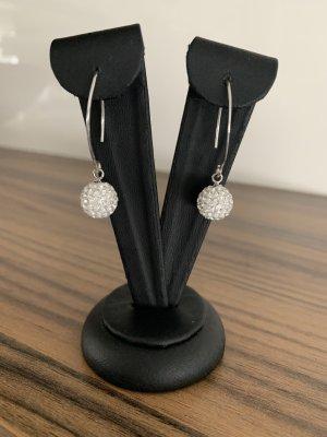 Boucles d'oreilles en argent argenté-blanc argent