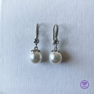 Viona Pearl Earring white-silver-colored