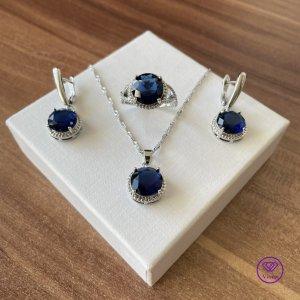 Viona Jewellery Set silver-colored-blue