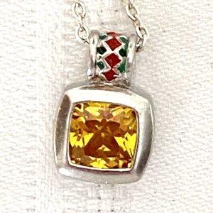925er Silber Pendente giallo-argento