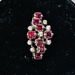 925er Silber Ring Rubine mit Zirkonia