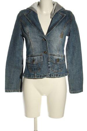 9886 DNM Vintage Wear Blazer en jean bleu style décontracté