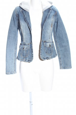 9886 DNM Vintage Wear Jeansowa kurtka niebieski W stylu casual