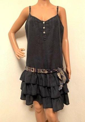 99€ edles italienisches Leinenkleid Kleid Strandkleid Sommerklied Leinen Tunika Top
