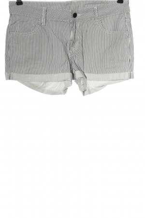 9th Avenue Hot pants bianco-nero stampa integrale stile casual