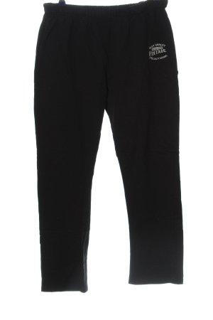 9th Avenue Pantalon de jogging noir-blanc lettrage imprimé style décontracté