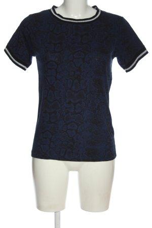 9th Avenue T-shirt blu-nero stampa integrale stile casual