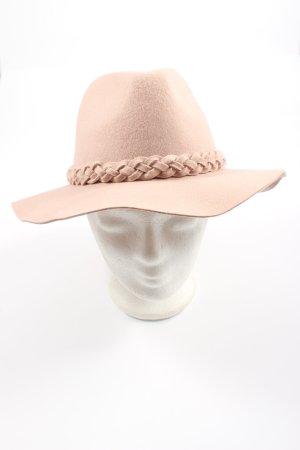a&a Sombrero de fieltro rosa elegante