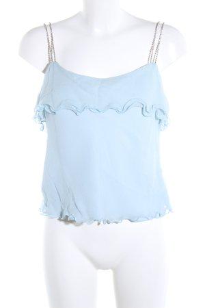 Cropped Top blau Elegant