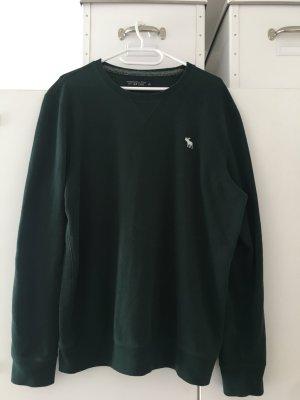 A&F Fleece Pullover, dunkel grün