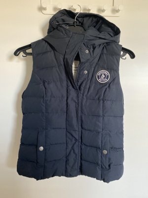 Abercrombie & Fitch Down Vest dark blue-blue