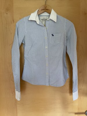 Abercrombie & Fitch Flannel Shirt white-blue