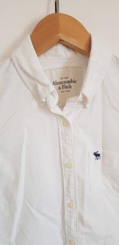 Abercrombie & Fitch Hemdblouse wit-blauw