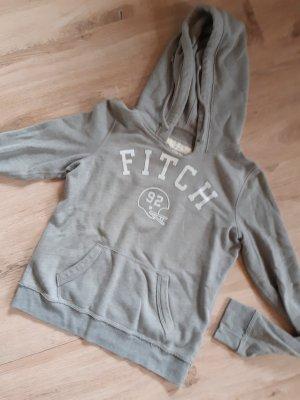 Abercrombie & Fitch Pull à capuche blanc-gris clair