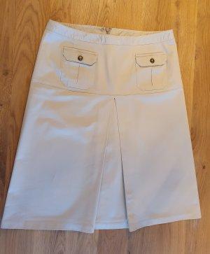 Fringed Skirt sand brown-beige