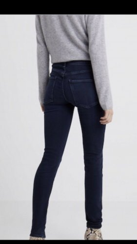 a gold e High Waist Jeans steel blue