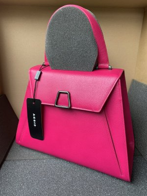 Akris Borsa con manico rosa Pelle